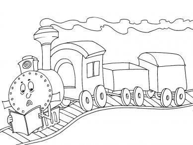 Train educatif bricolage train maternelle - Train coloriage ...