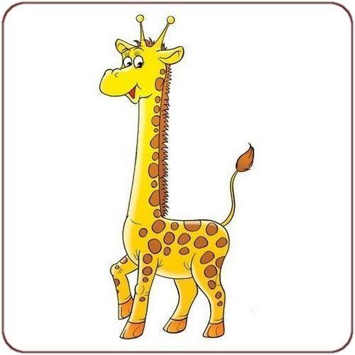 Chansons page 6 - Dessin de girafe en couleur ...