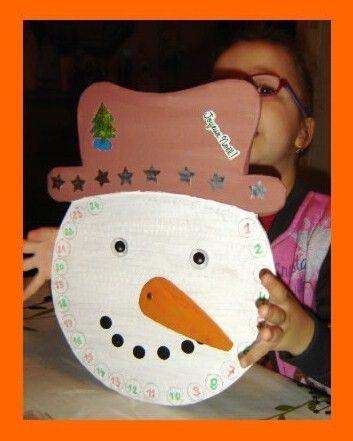 T te de bonhomme de neige calendrier de l 39 avent fin - Calendrier de l avent en bonhomme de neige ...